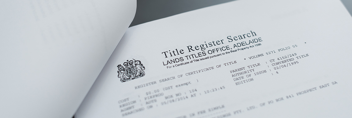 Conveyancing Services, Certificates and Lost Titles